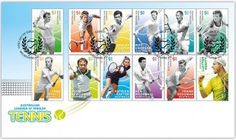 Australian singles tennis players honoured on 2016 Australia post Legends Stamps First Day Cover