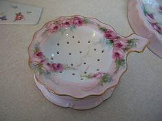 Hand painted tea strainer