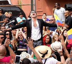 Giving back to his old stomping ground: Marc Anthony chose his childhood neighbourhood of East Harlem, New York, to film his latest music video on Sunday..( Vivir mi vida).....Nyc East Harlem 7/21/13