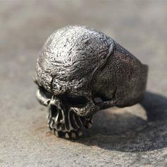 925 Sterling Silver Curse2 Skull Ringskull by 925SilverPetrichor