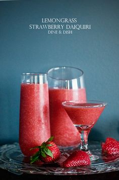 Recipe: Lemon Grass Strawberry Daiquiri Cocktails