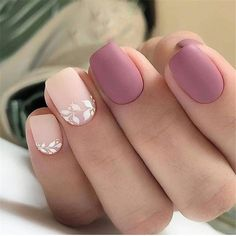 96 Lovely Spring Square Nail Art Ideas - Köröm minták - Beauty World Colorful Nail Designs, Nail Art Designs, Nails Design, Nail Designs For Fall, White Tip Nail Designs, Hair And Nails, My Nails, Shellac Nails, Nagellack Design