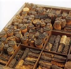 stamps carved out of corks