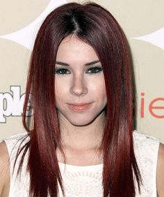 Jillian Rose Reed Hairstyle - Casual Long Straight. Click on the image to try on this hairstyle and view styling steps!