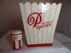 Williams-Sonoma Ceramic Popcorn Bowl and Matching Salt Shaker  NEW #WilliamsSonoma