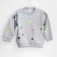 Sweater Triangle grey from pom berlin