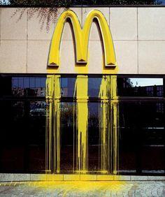 Zevs (prononcé Zeus),(1977) est un artiste contemporain français, connu depuis les années 1990 pour ses diverses œuvres d'art urbain. Son crédo du moment est plutôt particulier : Liquidated Logos (depuis 2006), où Zevs fait fondre ou couler les logotypes de marques omniprésentes en milieu urbain.
