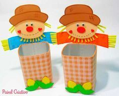 Passo a passo: Lembrancinha para festa junina feita com caixa de leite!