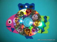 we heart art: Recycled CD Fish