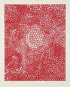 Yayoi Kusama   oko (red), 1998  Screenprint in colors, on Arches paper, with full margins, I. 23 1/2 x 18 3/4 in. (59.7 x 47.6 cm); S. 27 3/4 x 22 1/8 in. (70.5 x 56.2 cm) oko (red), 1998  Screenprint in colors, on Arches paper, with full margins, I. 23 1/2 x 18 3/4 in. (59.7 x 47.6 cm); S. 27 3/4 x 22 1/8 in. (70.5 x 56.2 cm)