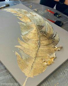Diy Resin Art, Diy Art, Texture Art, Texture Painting, Gold Leaf Art, Diy Canvas Art, Art Techniques, Diy Painting, Art Pictures