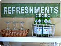 "Vintage ""Refreshments"" Sign"