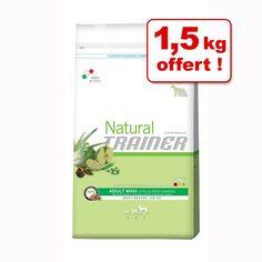 Animalerie  Croquettes Trainer Natural 11 kg  15 kg offerts !  Natural Adult thon riz spiruline