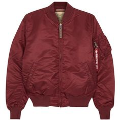 Alpha Industries MA-1 claret shell bomber jacket (2.615.640 IDR) ❤ liked on Polyvore featuring men's fashion, men's clothing, men's outerwear, men's jackets, mens zip up jackets and mens shell jackets