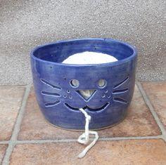Yarn bowl ....knitting or crochet ....wheel thrown stoneware