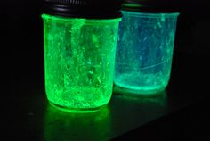 Glow Jars- how to step by step | Familylicious   Glitter is what makes these glow jars go to the next level!