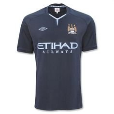 Official Manchester City Away Jersey 2010-2011 Official Umbro Apparel Free 2Day Fedex Shipping 90 Day Return Policy Available in Adult S and XL only