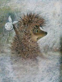 Купить Ёжик в тумане. Пастель - серый, картина в подарок, Картины и панно, недорогой подарок, нежность