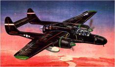 Northrop P-61B-15 Black Widow, en la isla de Morotai, Molucas, en 1945