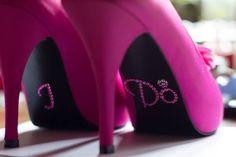 Hot Pink wedding shoes I do fuchsia