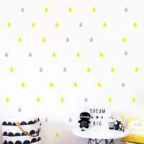 Naklejki KROPLE KROPELKI na ścianę 4cm - 100 szt