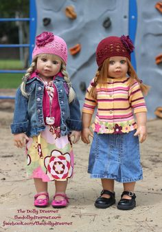 My new MP doll Aria just came home (the blonde) and she wanted to go to the park…