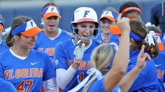 Aubree Munro hit her first home run of the season on Friday night.   4/9/2016