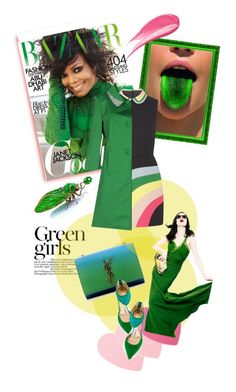 """""""I love green"""" by kari-c ❤ liked on Polyvore featuring Green Girls, Sephora Collection, Yves Saint Laurent, RED Valentino, Jean-Michel Cazabat, Blugirl, Z Spoke by Zac Posen, Hourglass Cosmetics, women's clothing and women's fashion"""