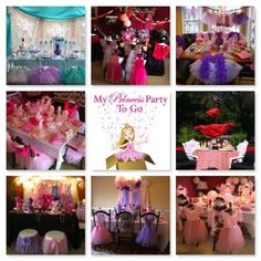 Princess Party Ideas.  So many Princess Parties to choose from Frozen, Sophia the First, Pinkalicious, etc.  Shop www.myprincesspartytogo.com  #princesspartyideas #frozen #sophiathefirst #fairy #princessandknight