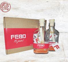 In opdracht van Febo een uitnodiging ontwikkeld voor hun 75 jarige jubileum feest. Alle franchisers ontvingen deze prachtige flessenpost direct mail. Flesje is voorzien van banderol, gevuld met FEBO prikkertje.
