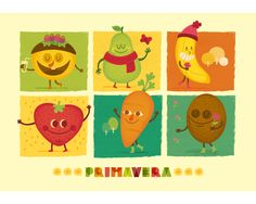 Frutitas de temporada by Raquel Jove, via Behance