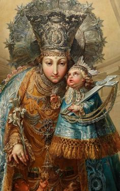 de los Desamparados Our Lady of the Forsaken of Valencia, painted by Vicente López for the monastery of Santa Ana in Sagunto, Spain. Lady Madonna, Madonna And Child, Blessed Mother Mary, Blessed Virgin Mary, Religious Icons, Religious Art, Virgin Mary Painting, Madonna Images, Images Of Mary