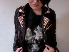 Home-made Studded Leather Jacket - ghostparties.