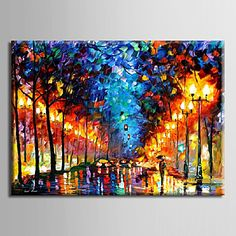 Oil+Painting+Decoration+Abstract+Night+Scene+Hand+Painted+Canvas+with+Stretched+Framed+–+AUD+$+100.09