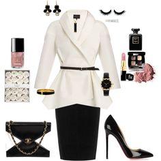 Black,White Sleek & Stylish featuring Chanel created by tsteele