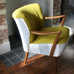 Coruna 1940's Cocktail Chair With Arms