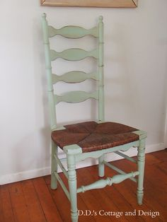 D.D.'s Cottage and Design: 4 Ladder Back Chairs with Rush Seats