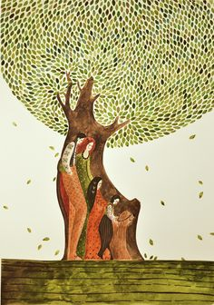 Familly Tree (watercolor illustration)