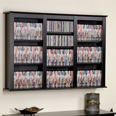Love This For Dvd Storage Right On The Wall Easy Access Rack