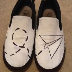 Painted canvas shoes!