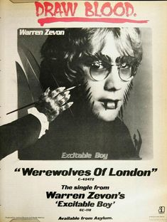 Warren Zevon's Werewolves of London