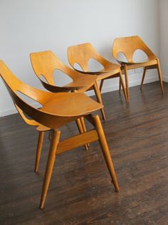 'Jason' Stacking Side Chairs by Carl Jacobs for Kandya, UK.