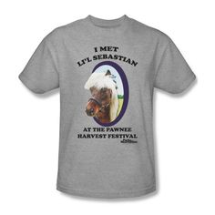 Parks and Recreation Lil Sebastian Adult Heather Gray T-Shirt - http://bandshirts.org/product/parks-and-recreation-lil-sebastian-adult-heather-gray-t-shirt/