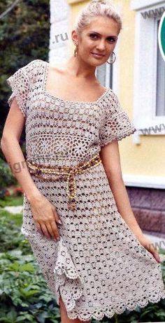 Льняное платье free pattern
