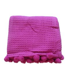 Fuchsia Pom Pom Throw... and I'm not even really a pink person!