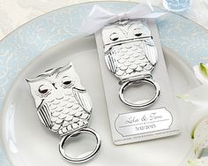 """""""Whooo's in Love"""" Owl Bottle Opener (Avaliable Personalized)"""