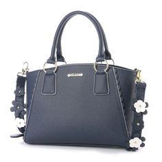 リズリサ LIZ LISA パスティー 花モチーフ使いショルダーストラップ付2WAYバッグ (ネイビー) -靴とファッションの通販サイト ロコンド