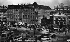 Alexanderplatz 1925 Oestliche Randbebauung mit ehem.Grand Hotel,Einmuendung der Neuen Koenigstrasse und Haus zum Hirschen