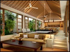 Jimbaran House by on DeviantArt Modern Tropical House, Tropical House Design, Tropical Houses, Rest House, House In The Woods, Tropical Architecture, Architecture Design, Chalet Modern, Bali House