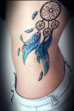 Dream Catcher Tattoo On Side Best Dreamcatcher Tattoo Designs For Women  Tattoo # Girl Tattoo # Quote